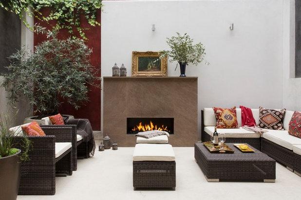 Asian Patio by Oakley Moore Interior Design