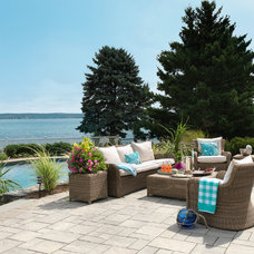 Beach Style Patio by Digs Design Company