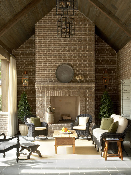 Tudor fireplace houzz for Tudor style fireplace