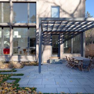 Réalisation d'une terrasse et balcon design avec une pergola.