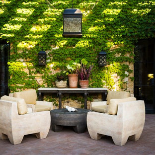 Tuscan brick patio container garden photo in San Francisco