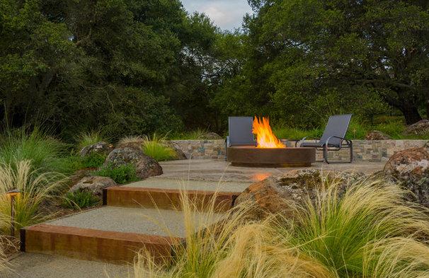Contemporary Patio by AtMar Landscape Services, Inc.