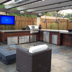 Outdoor Kitchen Contemporary Patio Chicago By