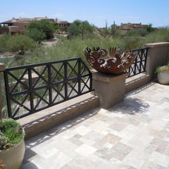 mediterranean patio by Craig Wickersham Inc