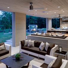 Contemporary Patio by Linda Fritschy Interior Design
