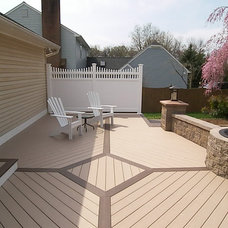 Contemporary Patio by HNH Deck and Porch