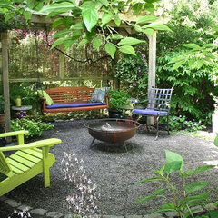 eclectic patio by Visionscapes NW Landscape Design