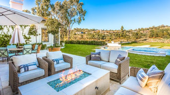 Luxury Exterior Seating Area Design of a Golf Course Home