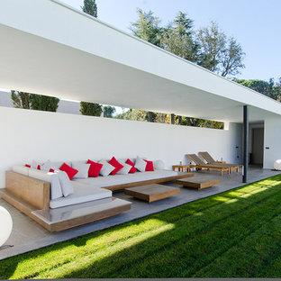 Foto de patio minimalista grande