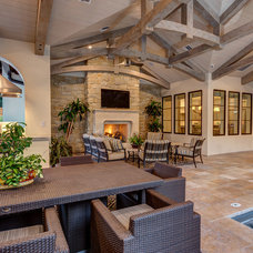 Transitional Patio by Connie Anderson Photography