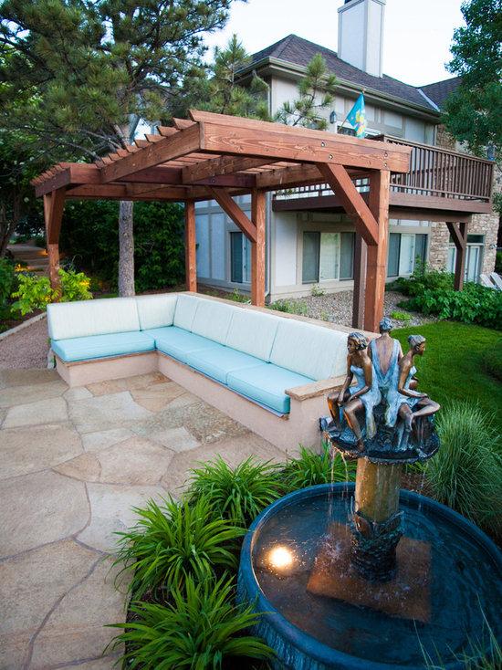 Built In Outdoor Bench | Houzz