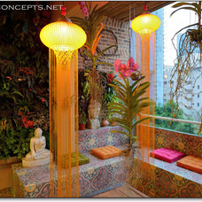Eclectic Patio by Newton Concepts Furniture & Interior Design