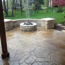 Traditional Patio by Concrete Concepts LLC