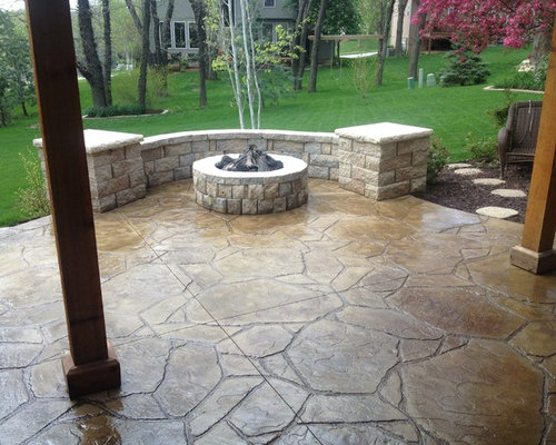 Flagstone Concrete Patio Houzz