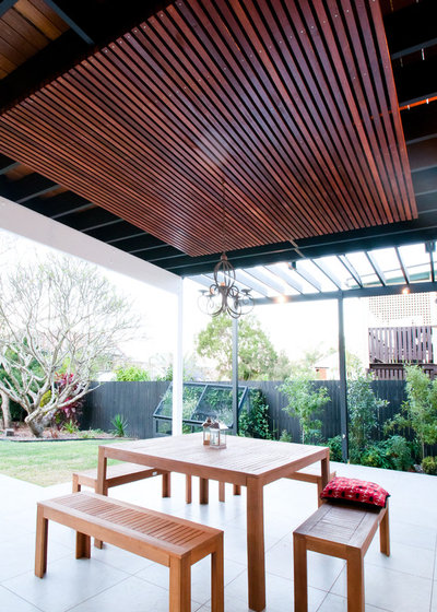 Perfect Transitional Patio by Harris Designs