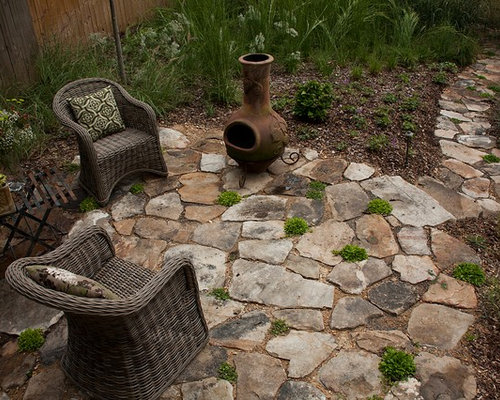 Stone Patio Design Ideas free paver patios images Chiminea Home Design Ideas Renovations Photos Flagstones Of This Awesome Stone Patio