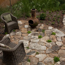 Craftsman Patio by Golightly Landscape Architecture