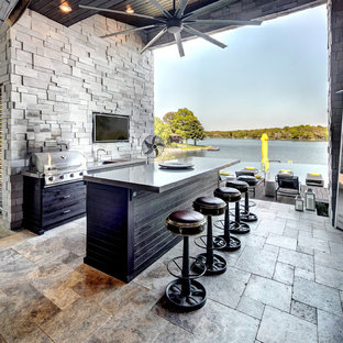 houzz outdoor kitchens covered summer example of trendy patio kitchen design in kansas city 75 most popular contemporary outdoor kitchen design ideas