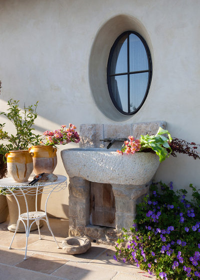 Mediterranean Patio by Paul Brant Williger Architect