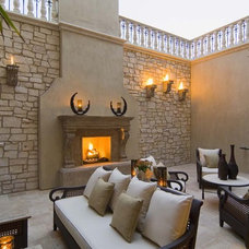 Mediterranean Patio by Macaluso Designs