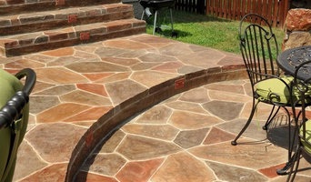 Manassas award winning hand-stained backyard patio