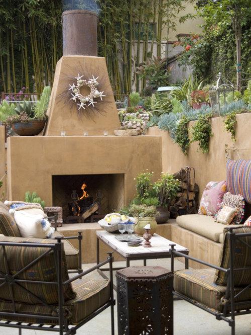 Outdoor Stucco Fireplace Houzz