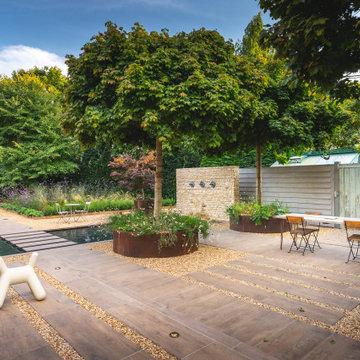 Manor Farm Barn - my own Cotswold courtyard garden by Jo Alderson Phillips