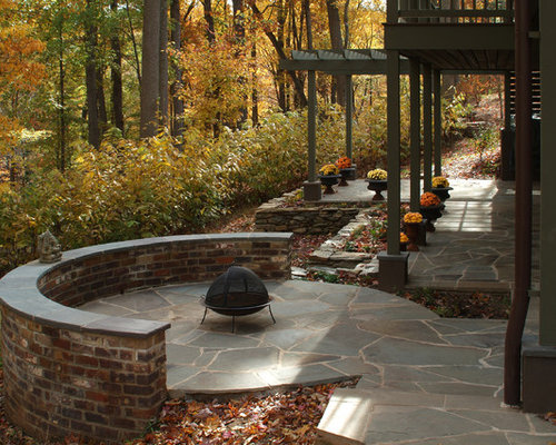 flagstone patio | houzz - Flagstone Patio Designs
