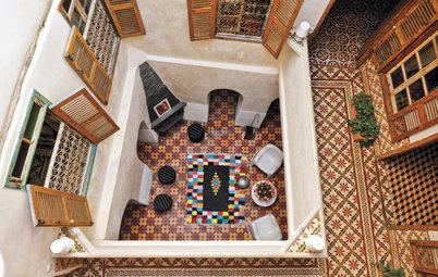 Schmuckvolle Innenhöfe – inspiriert von marokkanischen Riads
