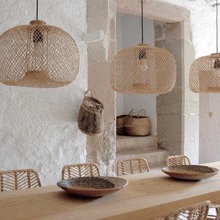 Ejemplo de patio mediterráneo en anexo de casas
