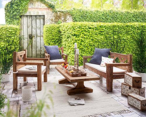 landhausstil patio design ideen bilder houzz. Black Bedroom Furniture Sets. Home Design Ideas