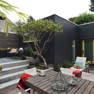 Patio - contemporary brick patio idea in San Francisco