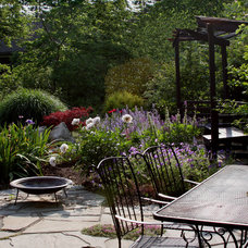 Traditional Patio by Amy Martin Landscape Design