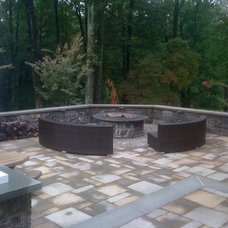 Traditional Patio by McCusker Landscaping Inc.