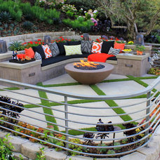 Transitional Patio by Creative Atmospheres, Inc.