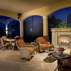 mediterranean patio by Weber Design Group, Inc.