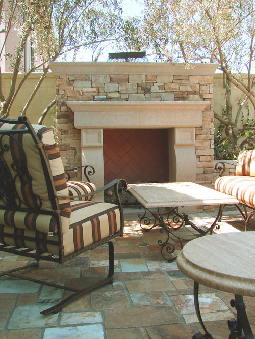 outdoor fireplace mantel houzz