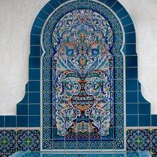 Mediterranean Patio by Decorative Pool Tiles