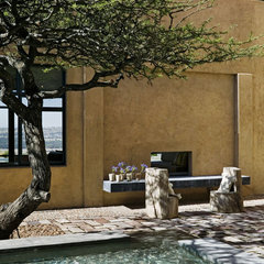 mediterranean patio by David Howell Design