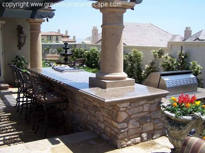 Mediterranean Patio by Green Scene Landscaping & Pools