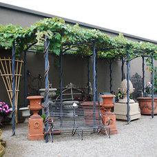 Mediterranean Patio by Detroit Garden Works