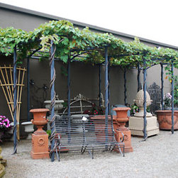 Branch Steel Grape Pergola - I've always wanted to grow a beautiful arbor of grapes in my back yard. This is a striking option to create a Tuscan moment in your own back yard.