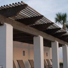 Mediterranean Patio by Dungan Nequette Architects