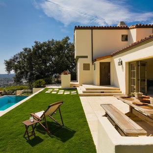 Inspiration for a mediterranean patio remodel in Santa Barbara