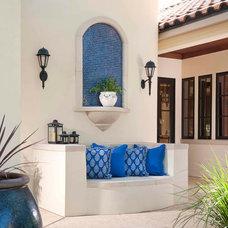 Mediterranean Patio by Phillip Jennings Custom Homes