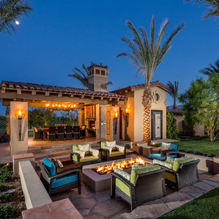 This is an example of a mediterranean patio in Orange County.