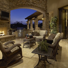 Mediterranean Patio by Gina Spiller Design