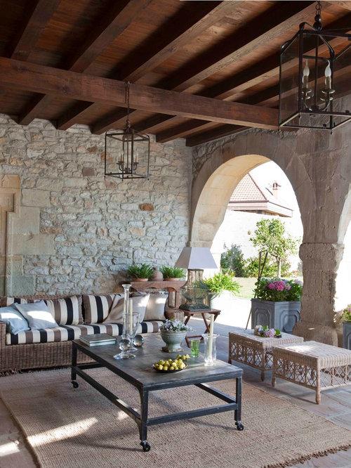 Ideas para patios dise os de patios r sticos - Fotos porches rusticos ...