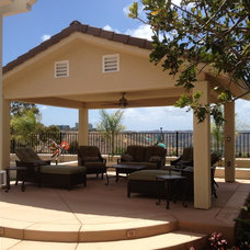Mediterranean Patio by AAA Landscape Specialists, Inc.