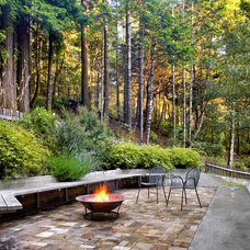Rustic Patio by Cathy Schwabe Architecture